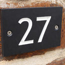 Recycled Slate Alternative Personalised House Number
