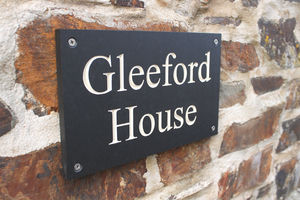 Personalised Eco Friendly Slate House Sign