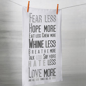 'All Good Things Will Be Yours' Tea Towel