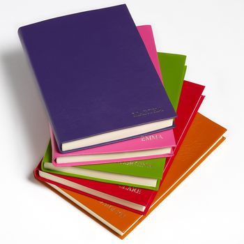 Luxury Coloured Leather Notebooks