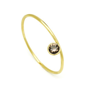 18 Carat Gold Bangle With Cup Setting
