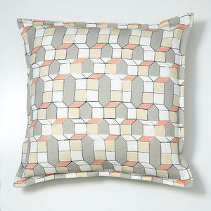 Cushion, Pink And Grey Geometric Casas Design