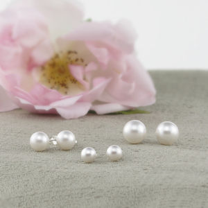 Alexia Pearl And Sterling Silver Studs - for children