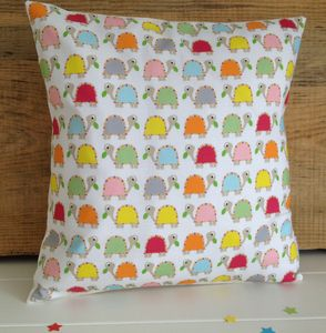 Multi Coloured Children's Tortoise Cushion - children's room