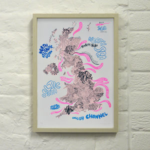 Great Britain Print - less ordinary wall art