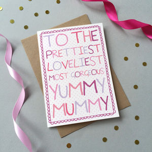 'Loveliest Mummy' Birthday Card