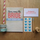 'Here Comes The Bride' Pocket Wedding Planner