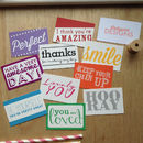 Pack Of Ten Mini Messages Cards
