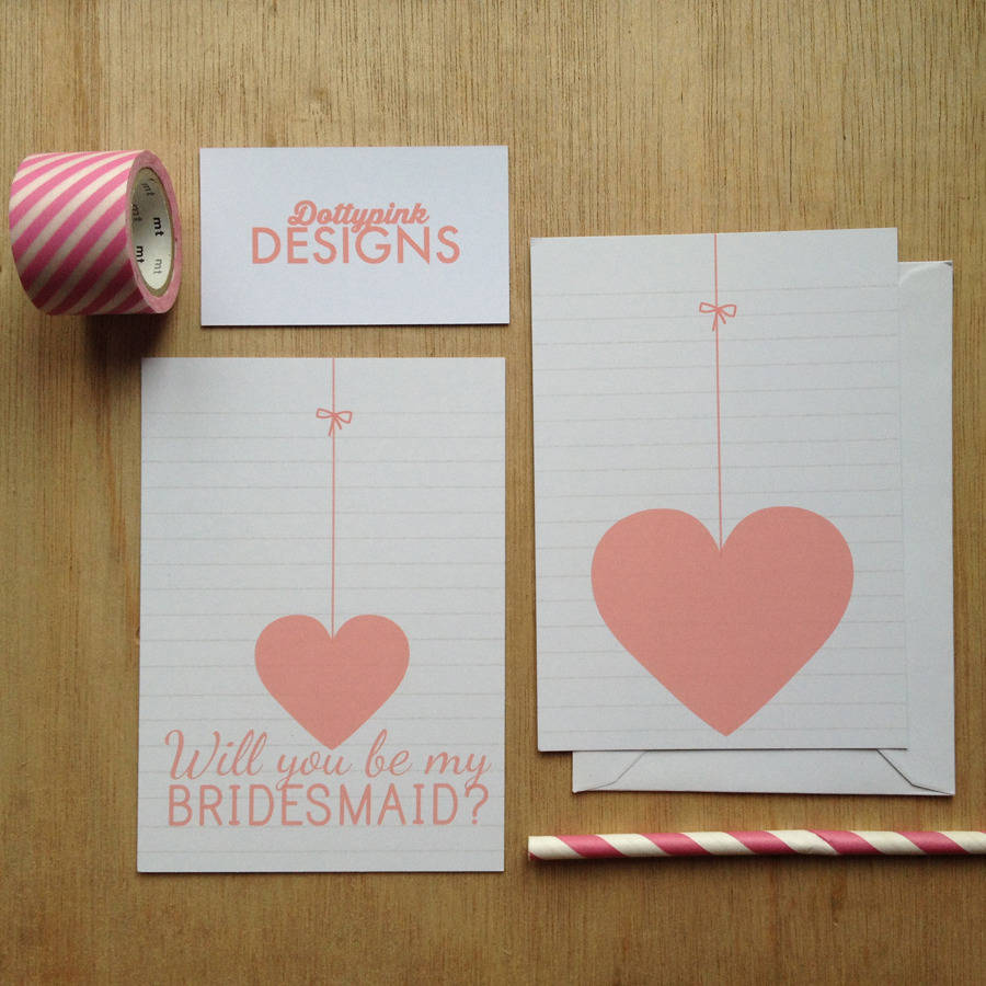 Ideas To Surprise Your Bridesmaids: 'will You Be My Bridesmaid' Card By Dottypink Designs