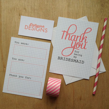Bridesmaid 'Thank You' Card