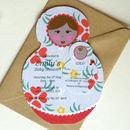 Matryoshka Baby Shower Invitations