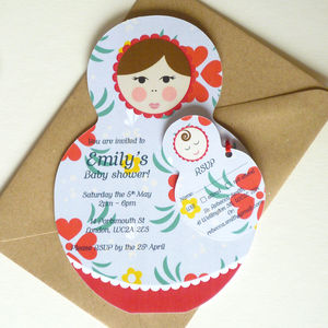 Baby Shower Invitations With RSVP Tags - baby shower decorations