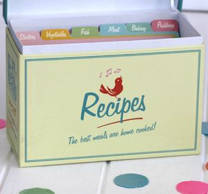 Vintage Style Recipe Box - kitchen