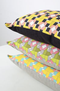 Cushions Geometric Houses Design