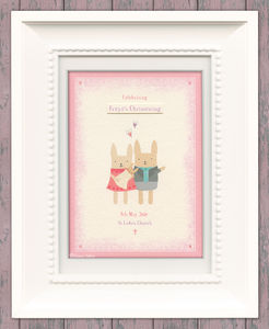 Personalised Christening Keepsake Art Print - christening gifts