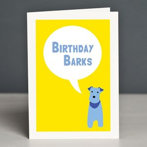 'Birthday Barks' Greetings Card