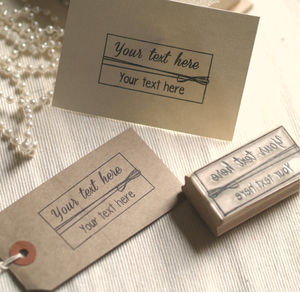 Free Text Personlised Rubber Stamp - diy stationery