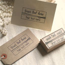 Free Text Personlised Rubber Stamp
