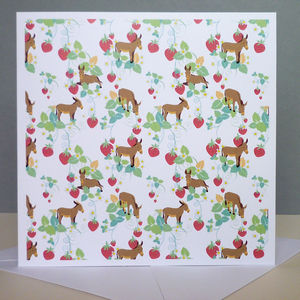 Greeting Card With Donkeys Pattern