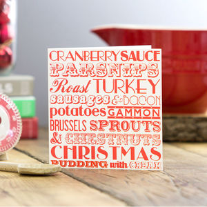 Christmas Dinner Greeting Card - cards & wrap