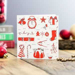 Christmas Delights Greeting Card - christmas cards