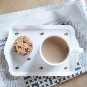 Mini Busy Bee Melamine Tray - dining room