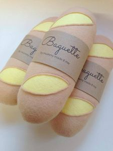 Pretend Play Felt Food Baguette - play scenes