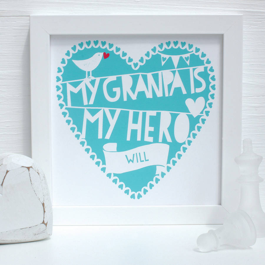Personalised My Grandfather Is…Framed Print