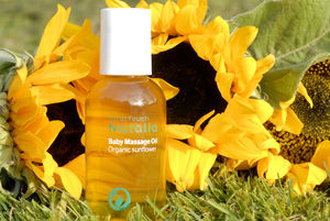 Baby Massage Oil 100% Organic For Sensitive Skin - baby shower gifts & ideas