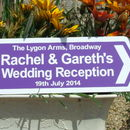 Wedding Reception Sign, purple
