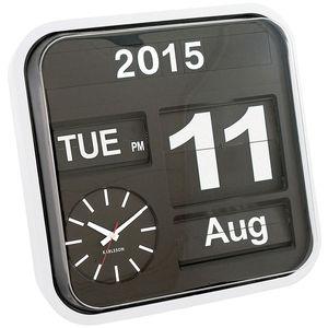 White Wall Clock Flip Calendar
