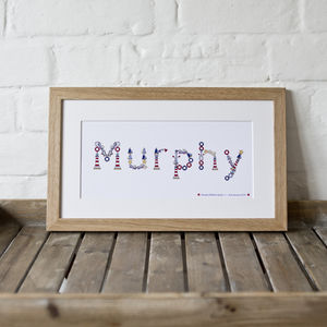 Personalised Child's Name Illustrated Print - christening gifts