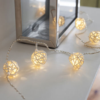 Wicker Rattan Fairy Lights