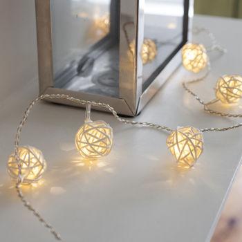 Wicker Rattan Fairy Lights