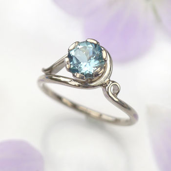 Aquamarine Ring In 18ct Gold