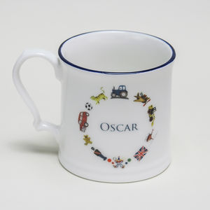 Boys Personalised Christening China Mug - children's decorative accessories