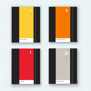 Design Lover's Colour Mood Personalised Notebooks - personalised