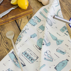 Baking Delight Teal Tea Towel - kitchen accessories
