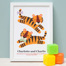 Personalised Twin Tiger Print
