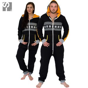 Men's And Womens Black/Yellow Onesie Lounge Wear