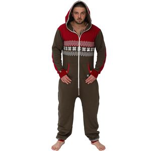 Men's Brown/Red Onesie Lounge Wear