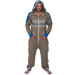 Men's Mushroom/Blue Onesie Lounge Wear