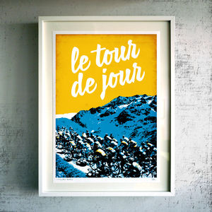 'Le Tour De Jour' Fine Art Giclée Print - gifts for cyclists