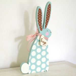 Personalised Wooden Easter Bunny