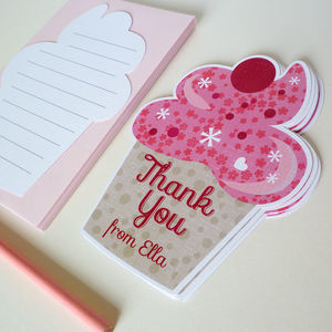 Personalised Cupcake Thank You Cards