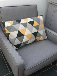 Geometric Triangle Cushion In Yellow