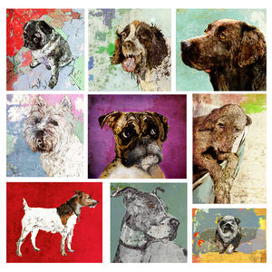 Personalised Dog Portrait. Original - canvas prints & art
