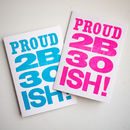 Letterpress 30s Birthday Card