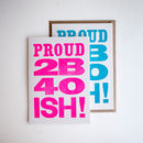 Letterpress 40s Birthday Card