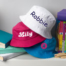 Personalised Children's Sun Hat